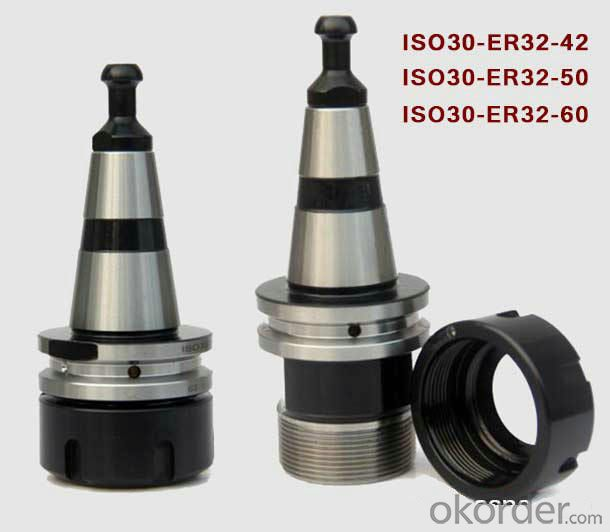 HSD ISO30 ER32 CNC Tool Holders with Covernut and Retainer Knob