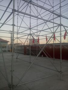 Steel Ringlock Scaffolding in China Construction