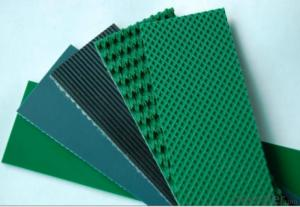 4mm/4.5mm/5mm Green White Rough Top PVC Conveyor Belt