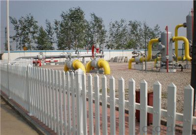 PVC White Plastic Picket Fence for Community
