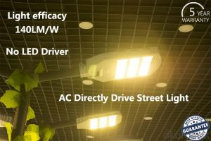 AC directly drive LED Street light  high  Luminous Efficiency no driver