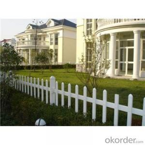 UV Proof 2 Rails White PVC Fence for Garden