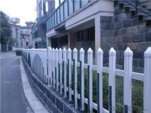 White PVC Semi Privacy Fence for Gate and Garden