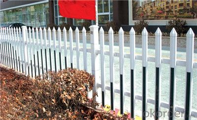 White Plastic Semi Privacy Fence for Yard Fence
