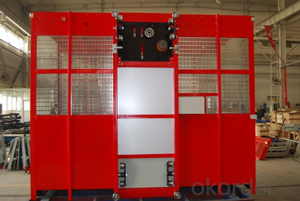 TWIN CAGE CONSTRUCTION LIFT ELEVATOR HOIST MODEL SC320/320G