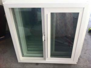 PVC window European style for concrete house with double glazing