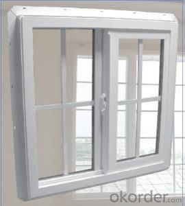 PVC window and door with double glazing film packing