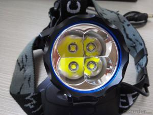 Led Headlamp 4x18650 4400mAh 1200 Lumens Waterproof rechargeable for Bicycle