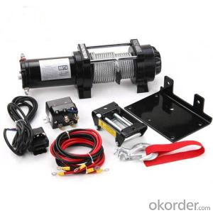 9500 Power Cable Winch 12v/24v, Roller Fairlead, Handheld Remote
