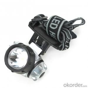 Led headlamp 3W COB  outdoor waterproof running camping walking reading