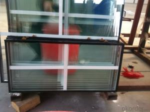 PVC slding window door with double glazing film