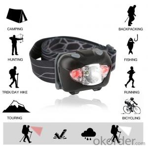 Popular 5 LED Headlamp with Head Strap for Camping