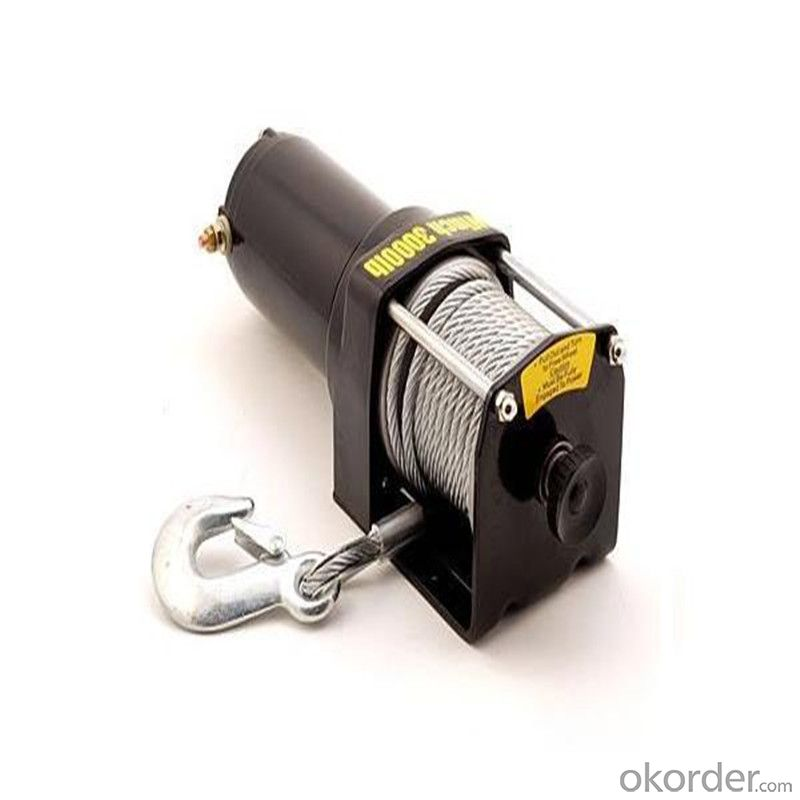4500 Power Cable Winch 12v/24v, Roller Fairlead, Handheld Remote
