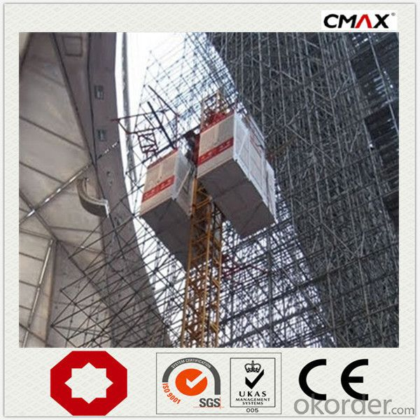Construction Hoist Single Cage Max Lifting Capacity 2000kg