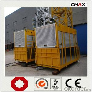 Construction Hoist Single Cage Coated Galvanize