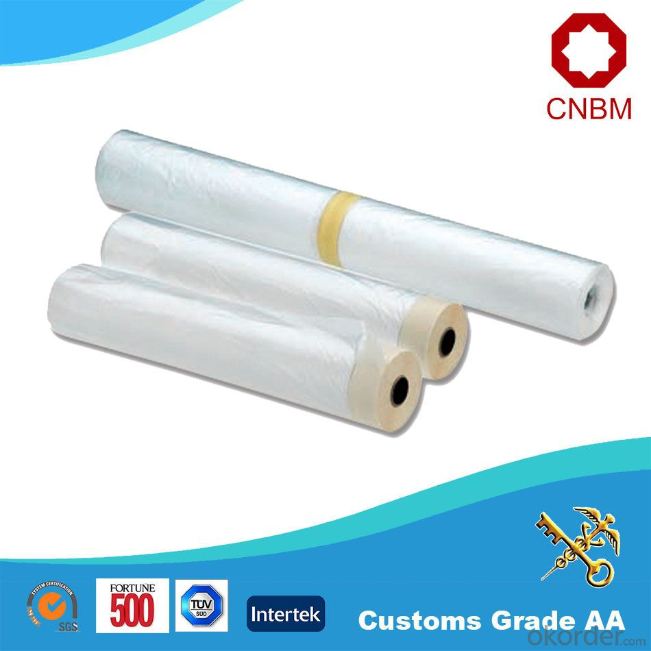 Masking Film with Crepe Paper Masking Tape and HDPE