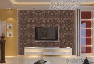 PVC Wallpaper CNBM Rose Wallpaper Wall Decoration Decorative Material Wallcovering