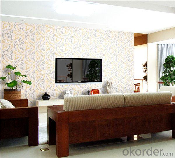 PVC Wallpaper CNBM Sisal Wallcovering Light Green Home Wallpaper
