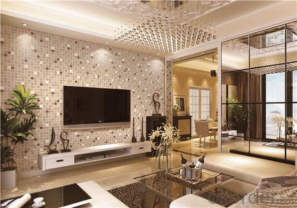 PVC Wallpaper CNBM Household Bedroom Usage Vinyl Wallpaper Brick Design Wallpaper