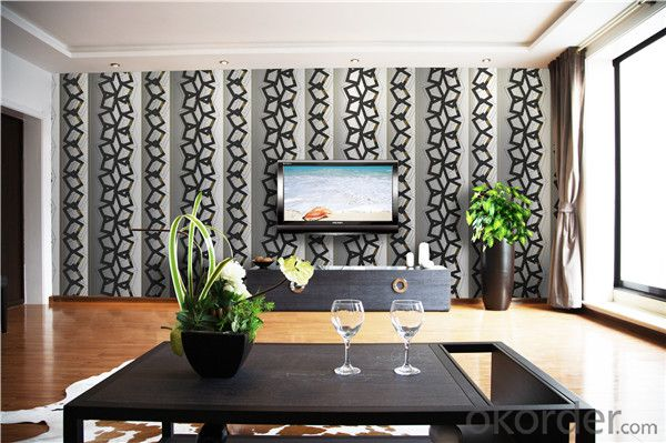 PVC Wallpaper CNBM Economic Modern Design PVC Korean 3D Stone Design Wallpaper