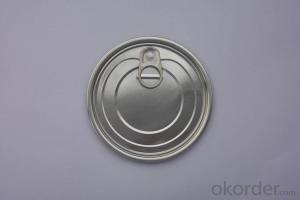 307 Aluminum Tab Cans Easy Open End, Round Pull Ring