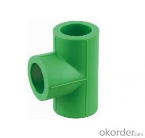 PPR Green Pipes Fittings Tee with high quality