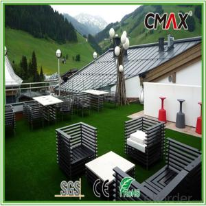 Balcony Roof Decorating Grass with 11000DTEX,20mm Height