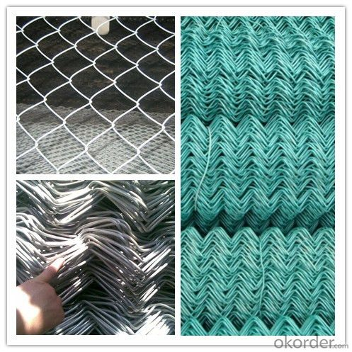 PVC Coated Security Wire Mesh Chain Link Fence in High Quality