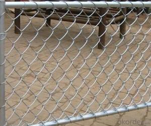 PVC Coated /Galvanized Chain Link Fence for Construction Factory Price