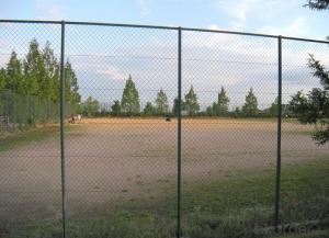 PE-Coated Wire Mesh for Tennis Court, Chain Link Fence