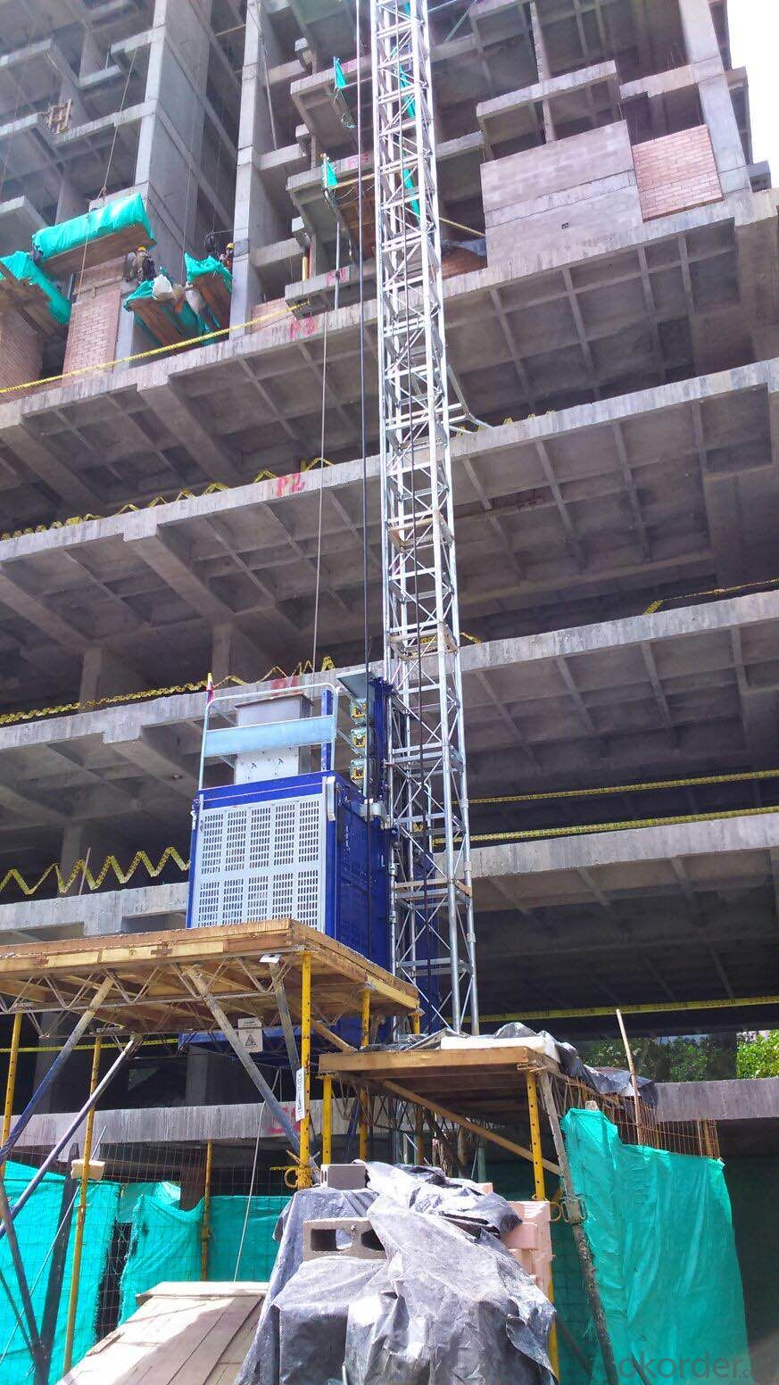 Double Cage Building Hoist Lifting Machine In China
