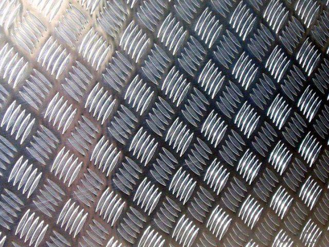 3003 3004 5052 5754 Five Bar Diamond Aluminium Tread Plate