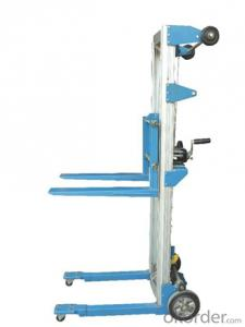 Double masts hand stacker SFH series hydraulic