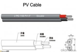 Twin Core PV Solar Cable For Solar Power System(2X4mm2)