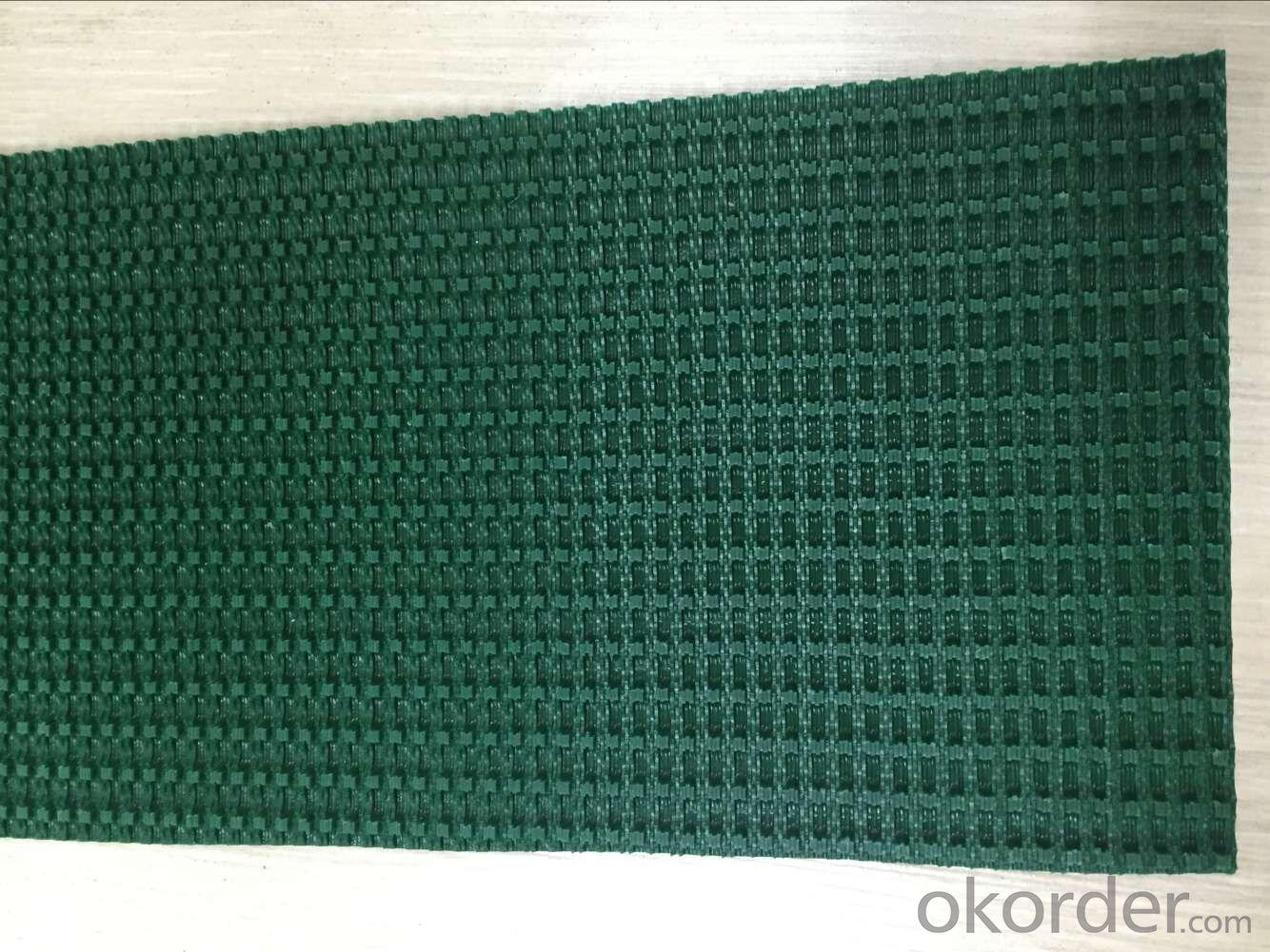 Roll Material Green Rough Top PVC Conveyor Belt 5.0mm 5.5mm