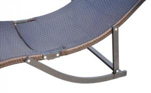 Steel frame Powder Coated Dark Brown Sun Lounger BDAR-8122LA