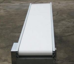 PVC/PU Conveyor Belt with Sidewall Cleats and Guide for Light Industry