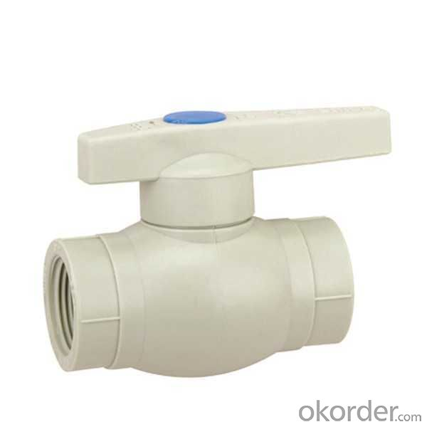 High  Quality  PP-R plastic ball valve with female threaded cold water