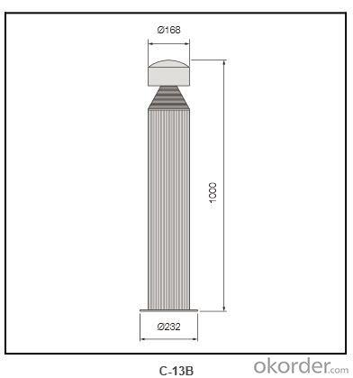 Die-casting aluminum cover Bollard Lighting c-13B