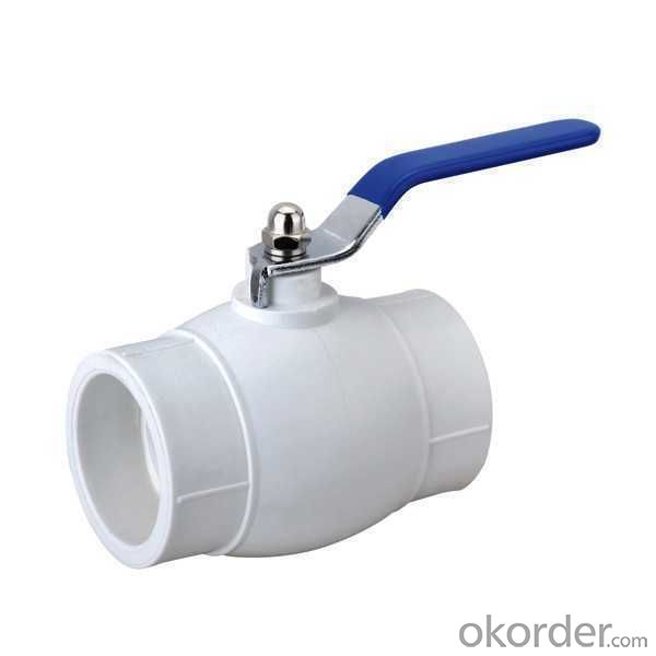 High Quality PP-R ball valve with steel ball