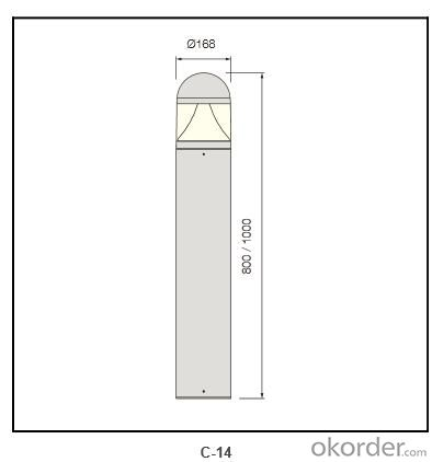 extruded aluminum pole Bollard Lighting c-14