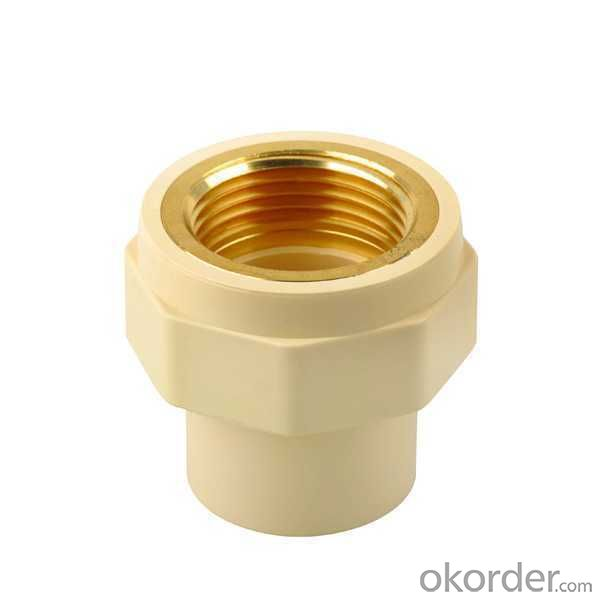 CPVC Plastic Pipe Fitting High Quality female counpling brass threaded