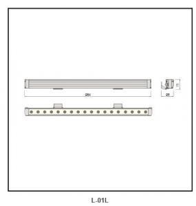 PMMA lens Galvanized steel plate  Linear Lighting L-01L