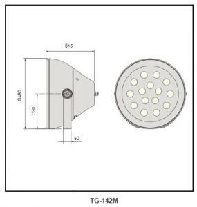 PP plastic reflector by chrome Flood Lighting TG-142M