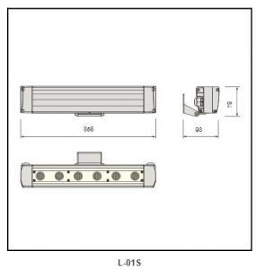 PMMA lens Galvanized steel plate  Linear Lighting L-01S