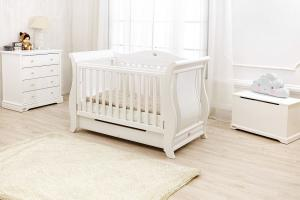 Imperial Sleigh Cot 2016 hot sale Soild Wooden Baby Cribs Baby Beds