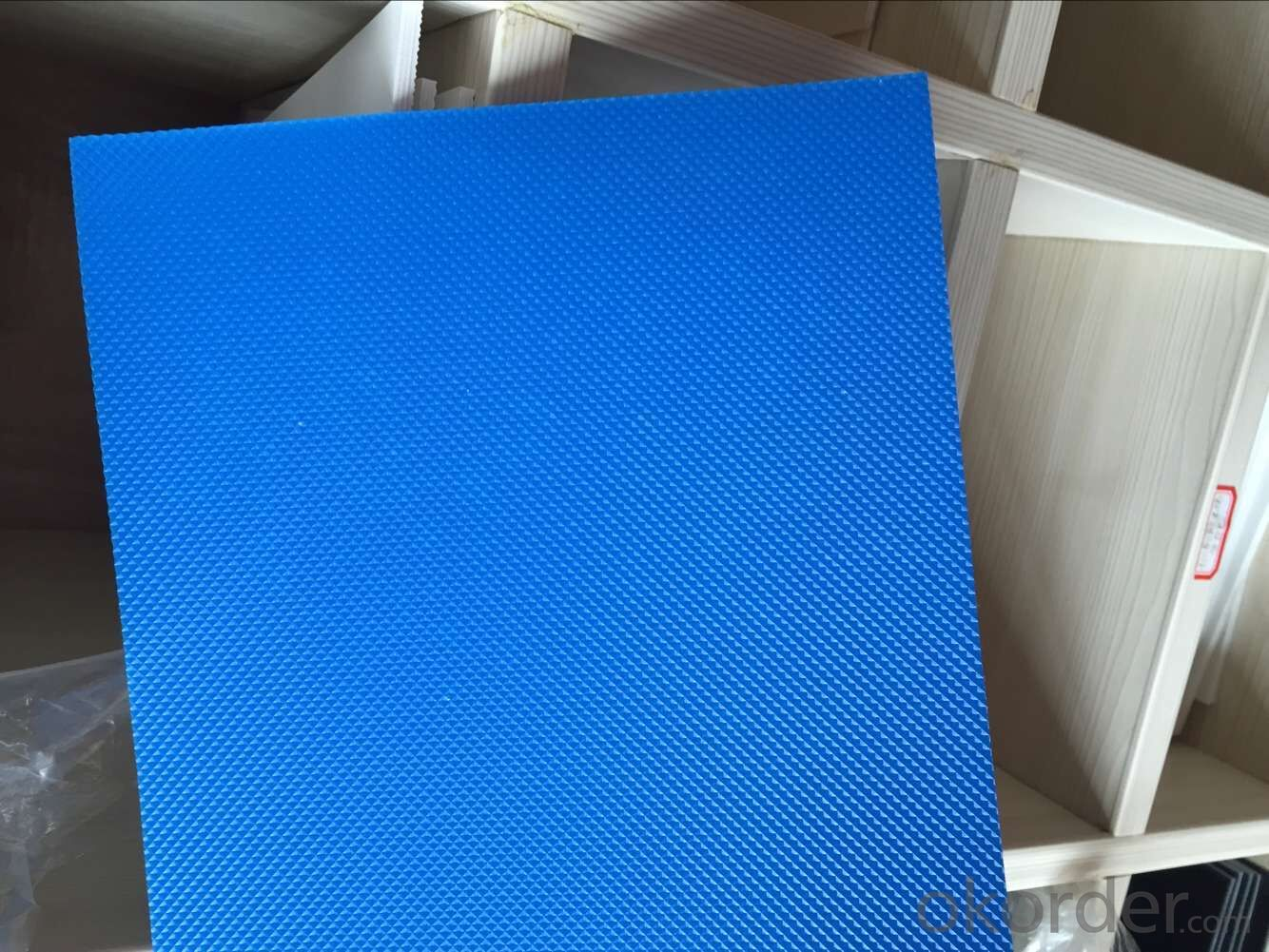 Blue/Green/White Diamond Surface PVC Conveyor Belt