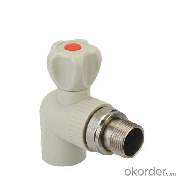 High Quality PP-R angle radiator brass ball valve