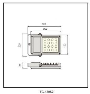 PP plastic reflector by chrome  Flood Lighting TG-120S2