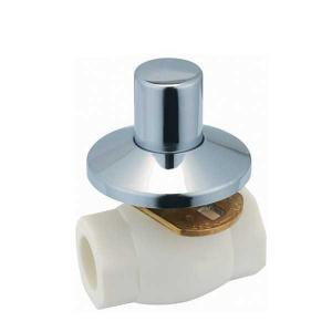 High Quality F6 type PPR single female threaded concealed ball valve with brass ball